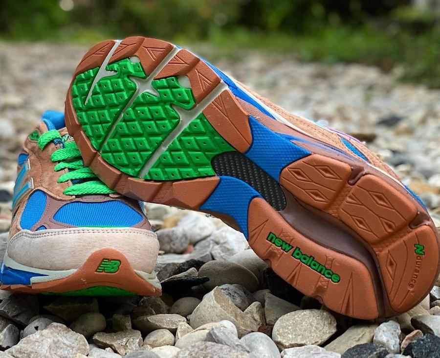 New Balance 990V3 marron beige bleue et verte (3)