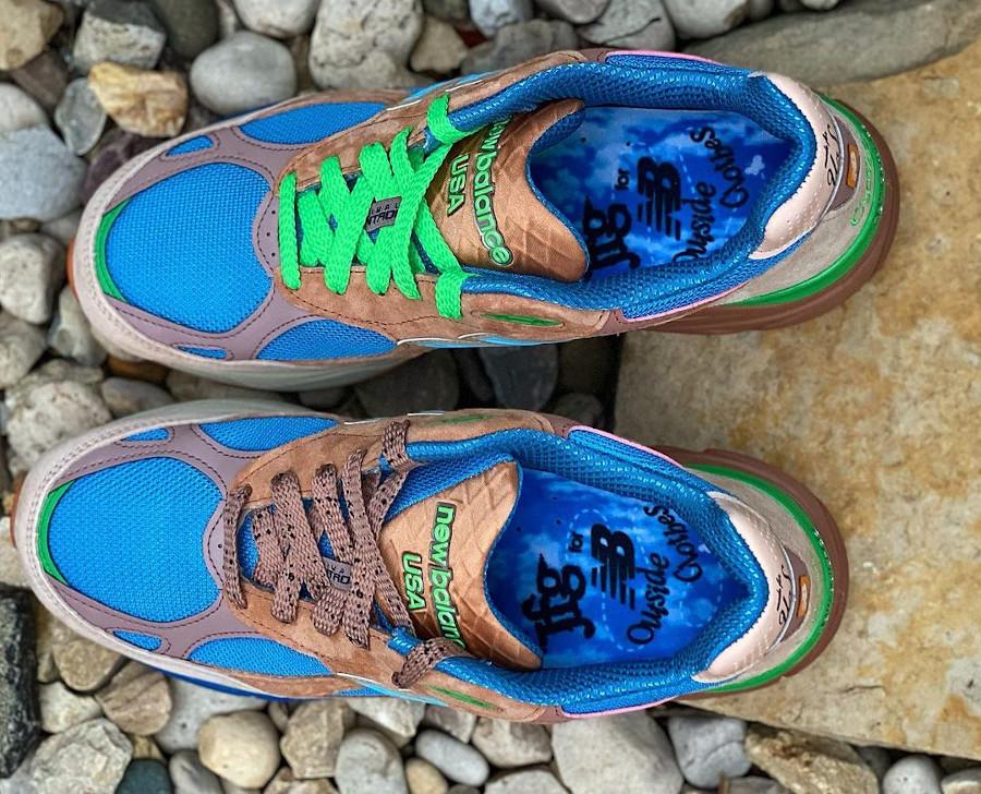New Balance 990V3 marron beige bleue et verte (5)