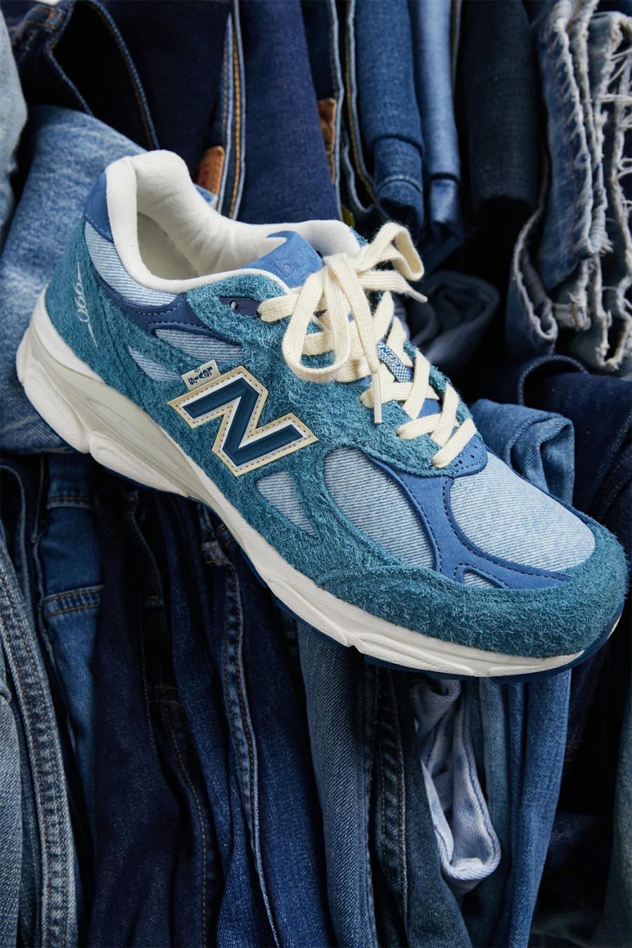New Balance M990V3 en jeans bleu (2)