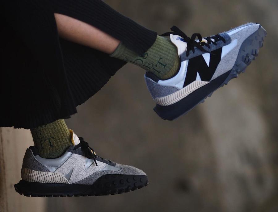 New Balance XC-72 Castlerock Black (femme) on feet