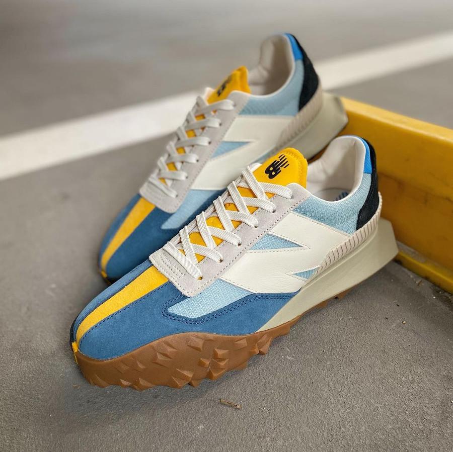 New Balance XC 72 bleu jaune et marron (1)
