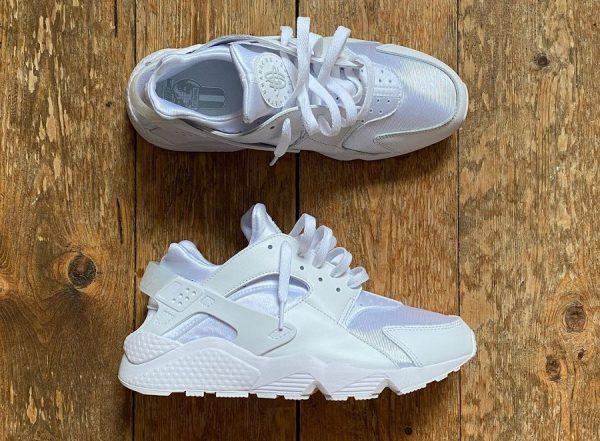 Nike Air Huarache Triple White Pure Platinum 2021