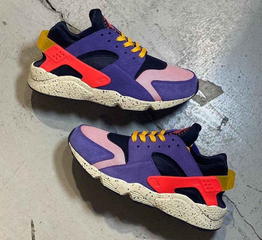 Nike Air Huarache violet noire et orange (1)