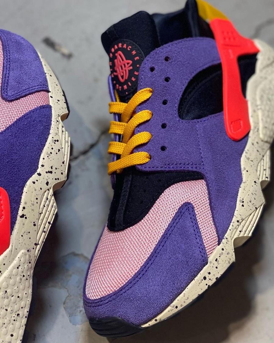 Nike Air Huarache violet noire et orange (2)