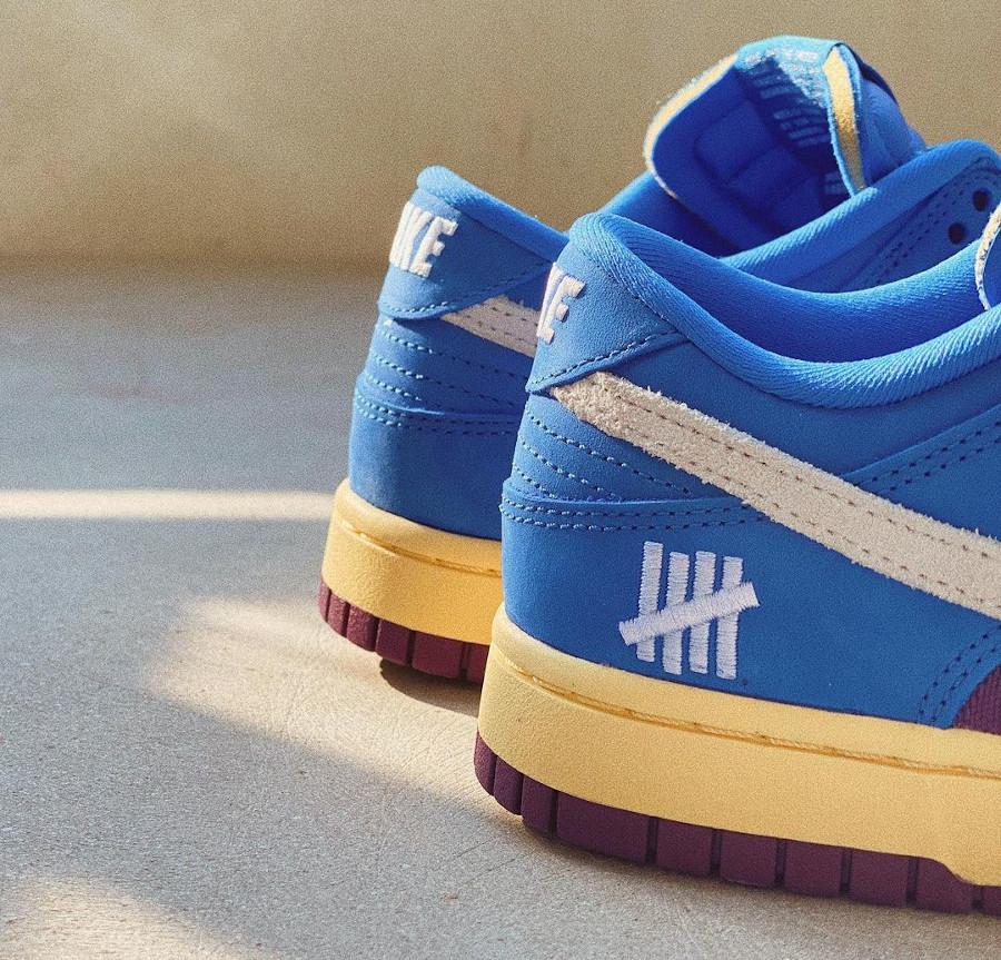 Nike Dunk Low 2021 blue et violette (imprimé serpent) (2)
