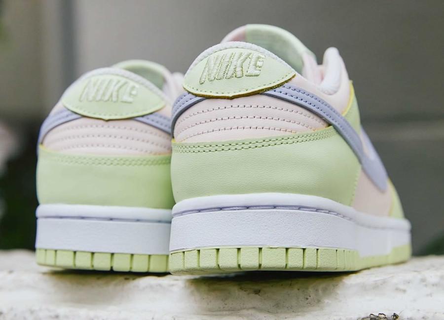 Nike Dunk Low 2021 vert pomme rose et violet doux (1)