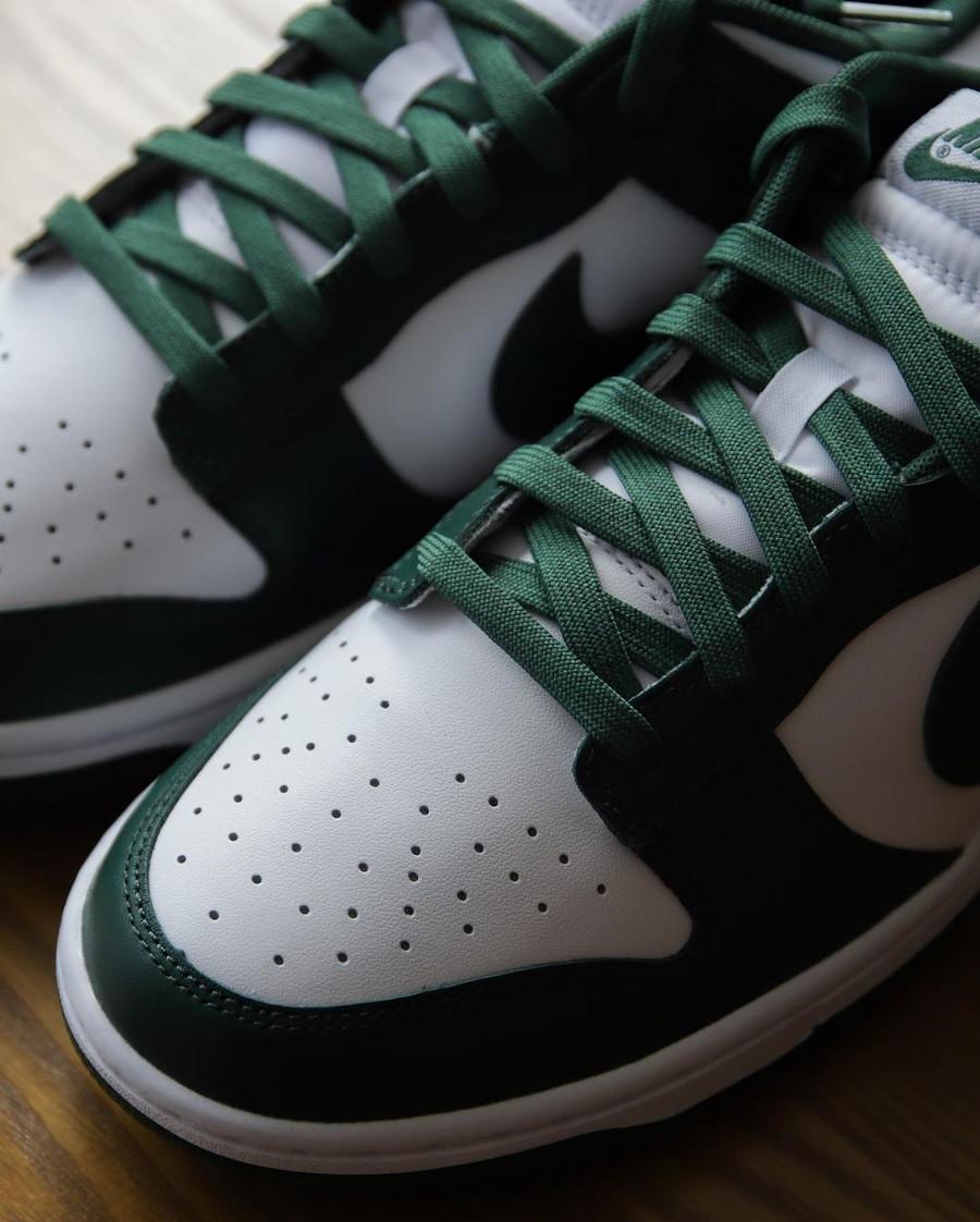 Nike Dunk Low OG blanche et verte (3)