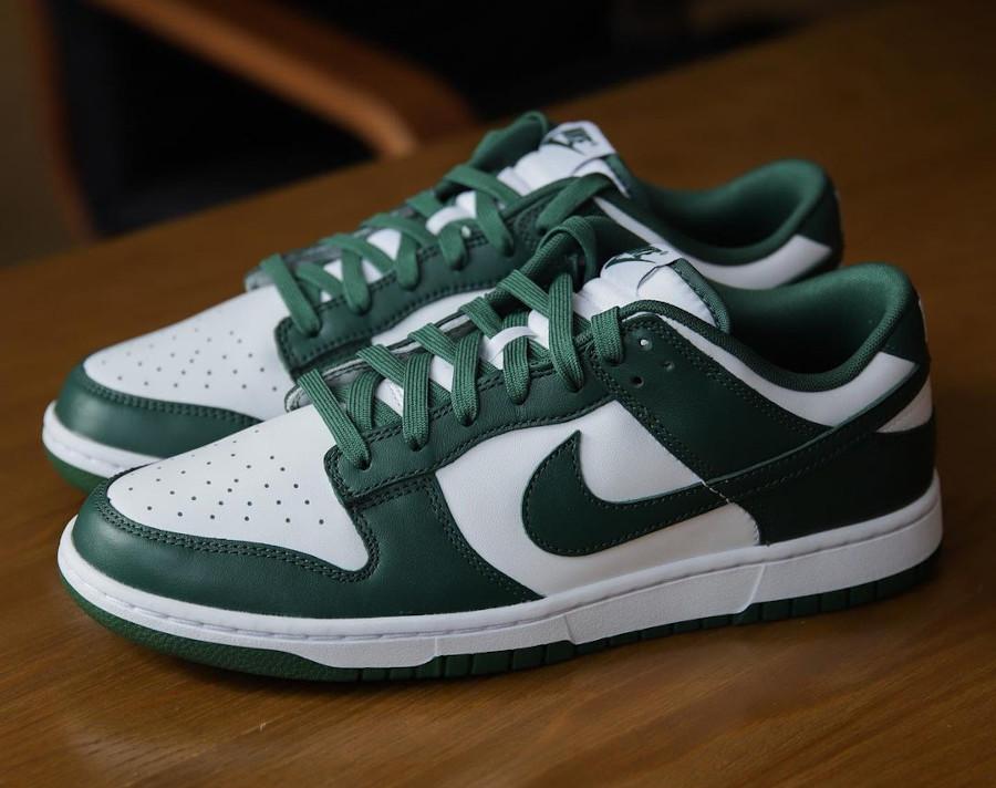 Nike Dunk Low OG blanche et verte (5)
