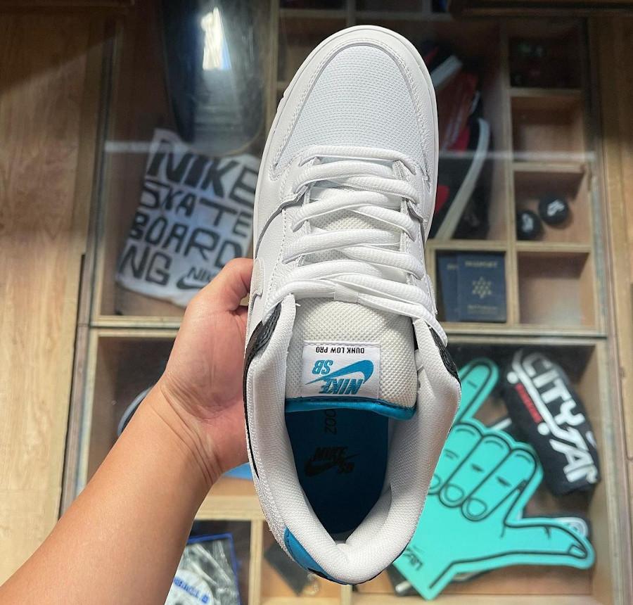 Nike Dunk Low Pro SB bleue blanche et noire (3)