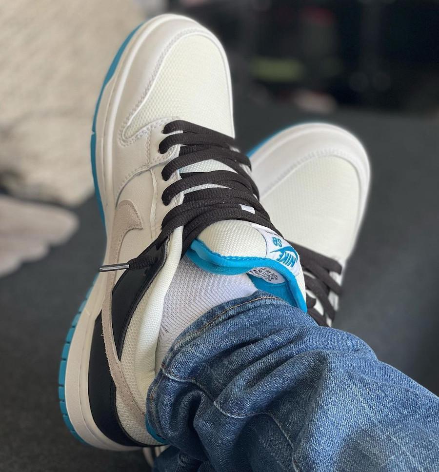 Nike Dunk Low Pro SB bleue blanche et noire (5)