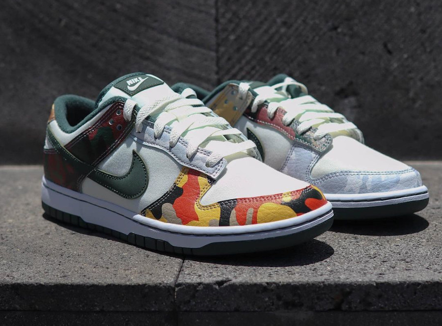 Nike Dunk Low Special Edition blanche militaire 2021 (1)