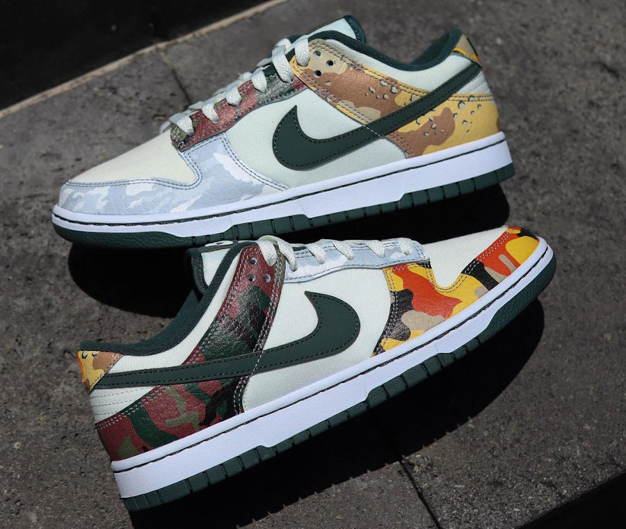 Nike Dunk Low Special Edition blanche militaire 2021 (2)