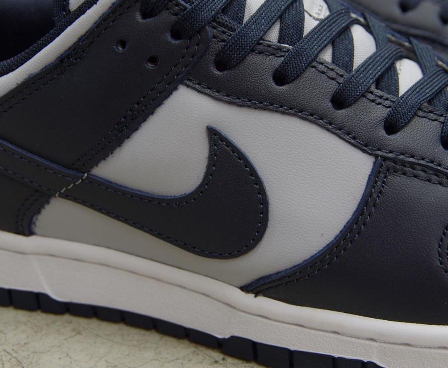 Nike Dunk Low grise et bleu marine (3)