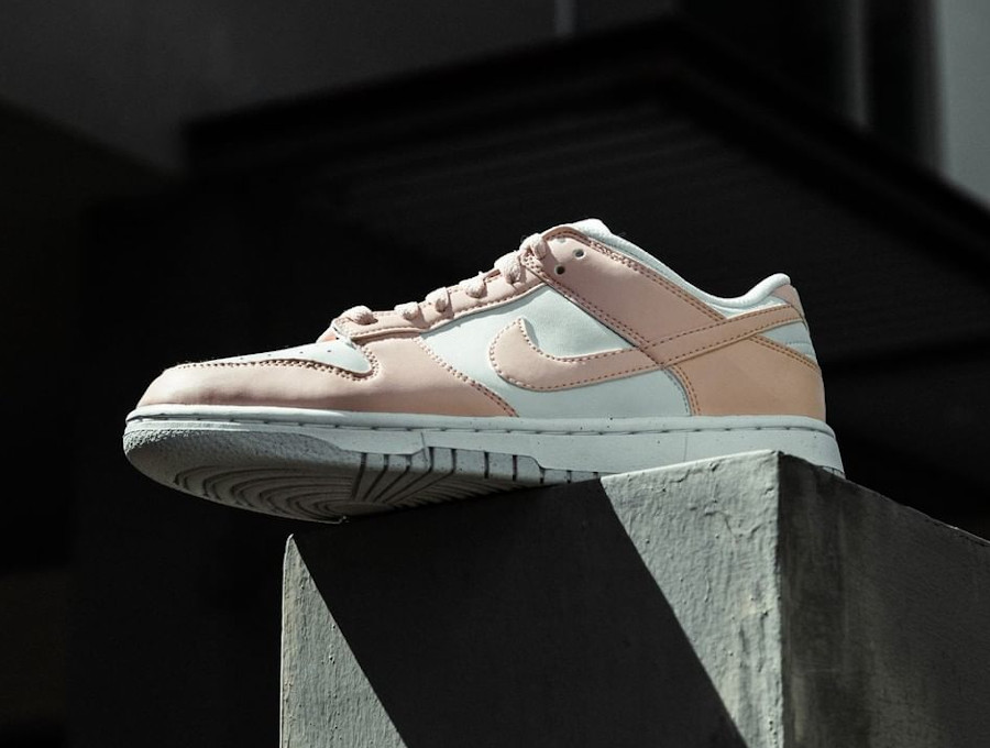 Nike Dunk Low move to zero blanche et rose pastel (5)