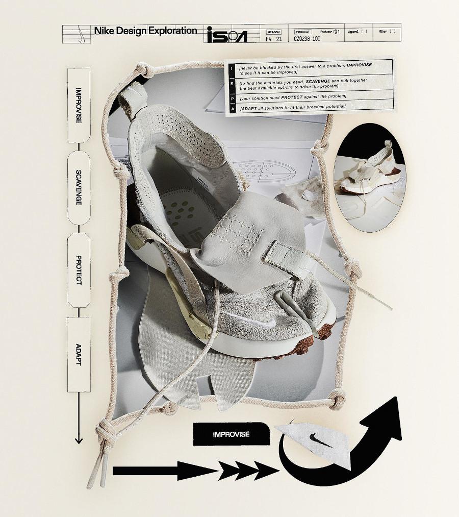 Nike ISPA Drifter ninja en chanvre beige (1)