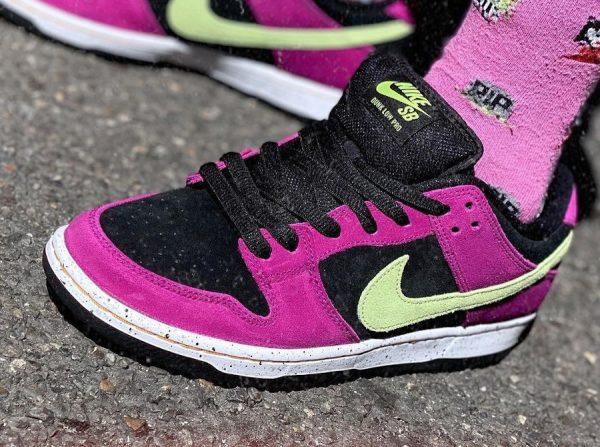Nike SB Dunk Low Pro ACG Terra Red Plum Citron on feet