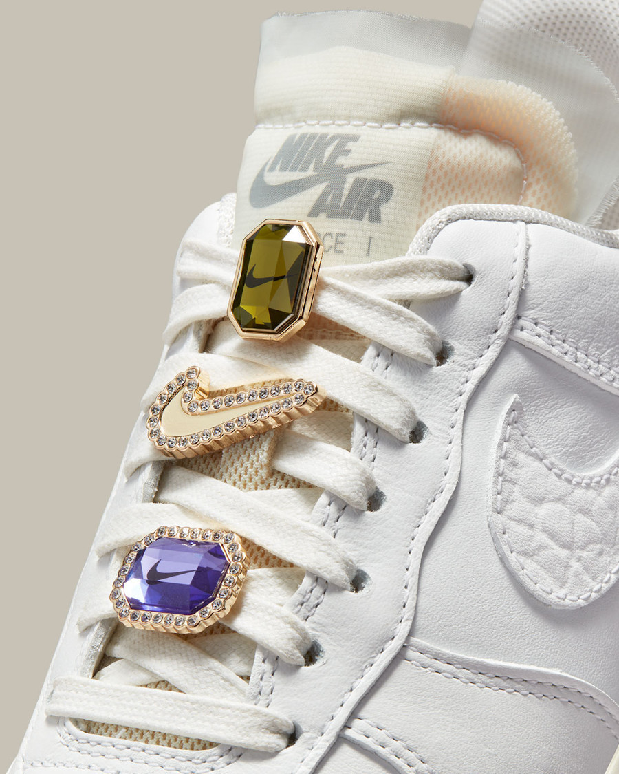 Nike Wmns Air Force 1 AF1 PRM Jewels Bling White Sea Glass 2021