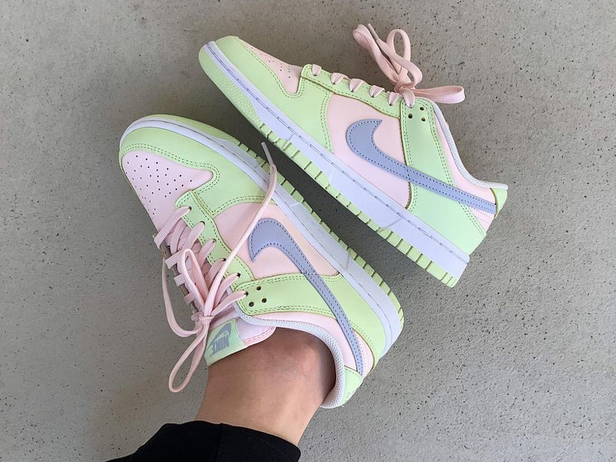 Nike Wmns Dunk Low Lime Ice Light Soft Pink Ghost DD1503-600