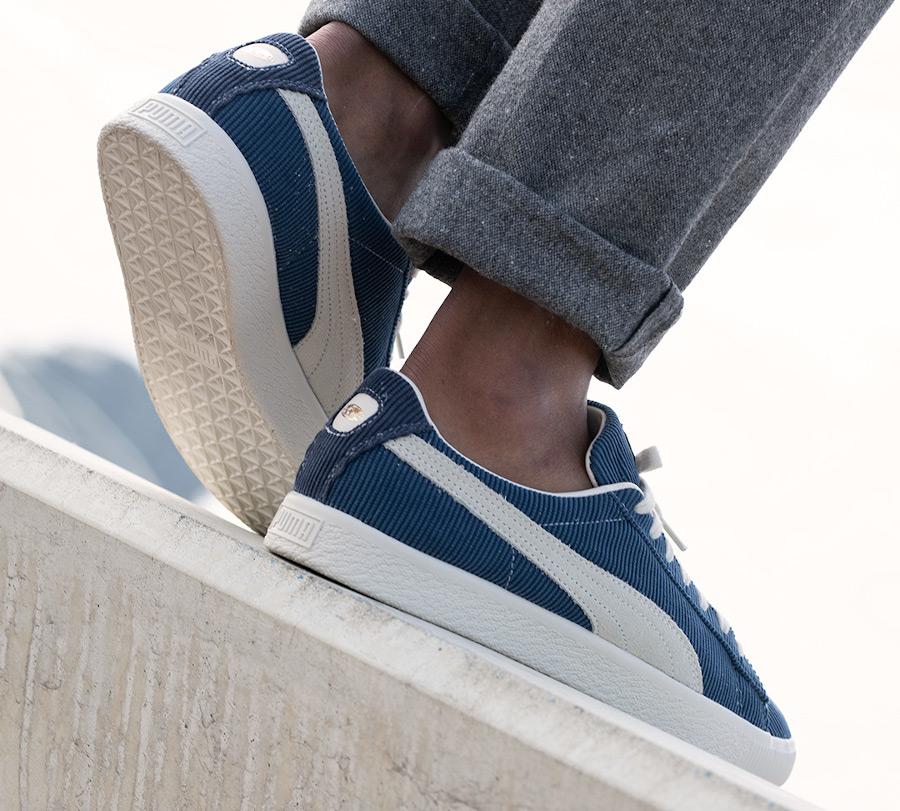 Puma Basket Vintage en velours bleu (1)