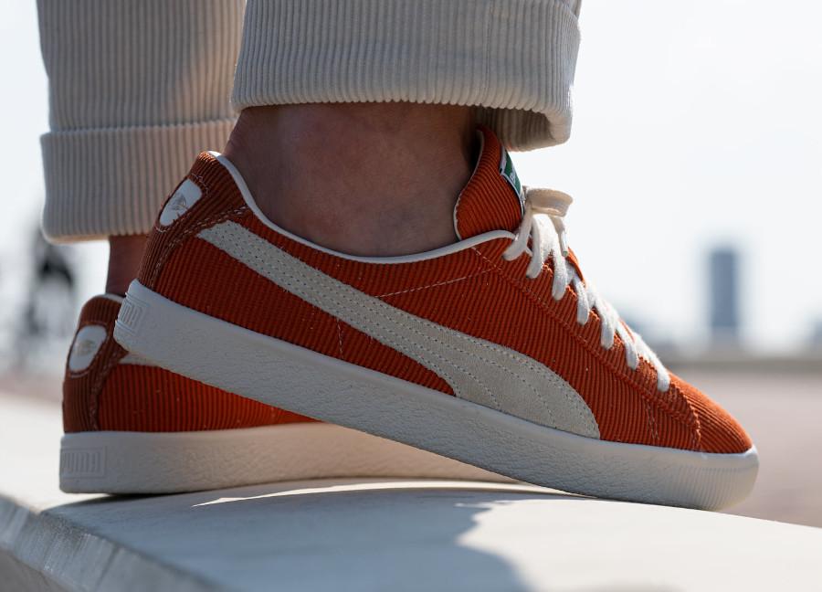 Puma VTG Basket en velours orange (1)