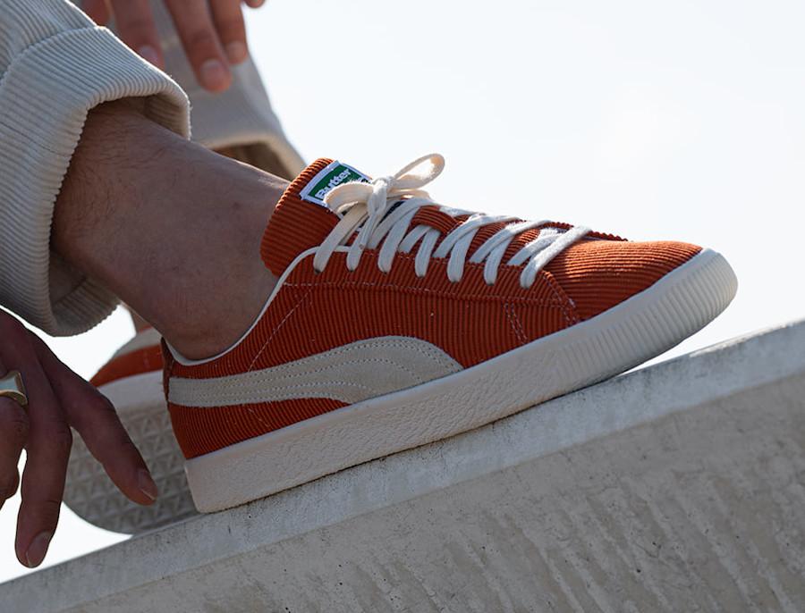 Puma VTG Basket en velours orange (2)