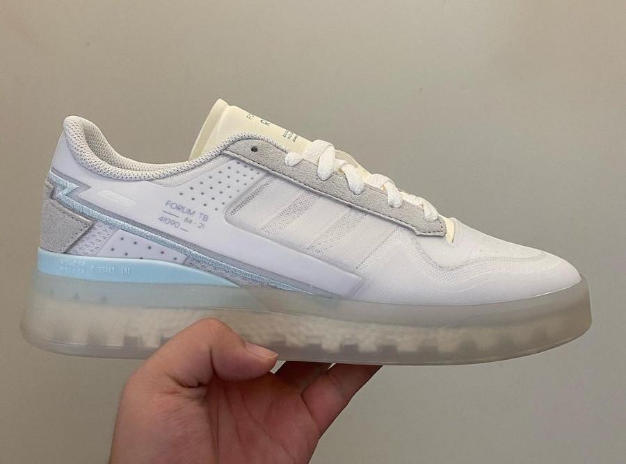 Adidas Forum basse TB blanche et transparente (3)
