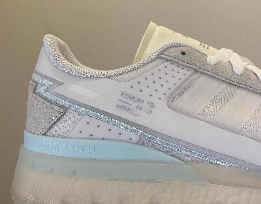 Adidas Forum basse TB blanche et transparente (5)