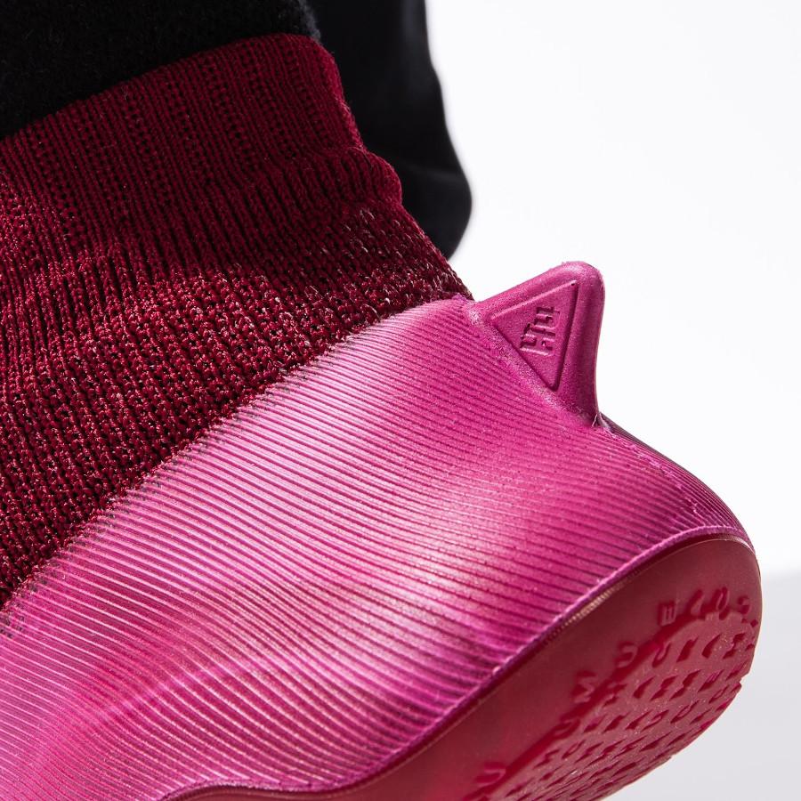 Adidas NMD Hu Sichona Maroon on feet (1)