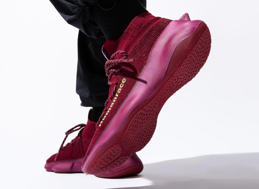 Adidas NMD Hu Sichona Maroon on feet (2)