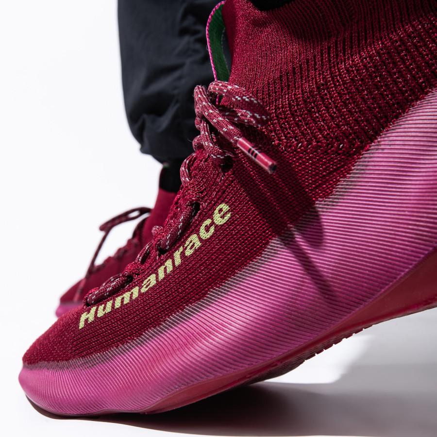 Adidas NMD Hu Sichona Maroon on feet (4)