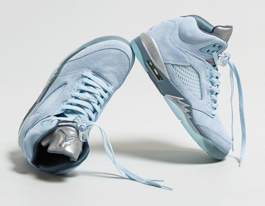 Air Jordan 5 Retro en nubuck bleu ciel (2)