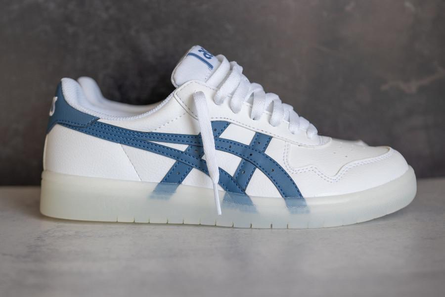 Asics Japan S blanche et bleue (semelle transparente) (2)