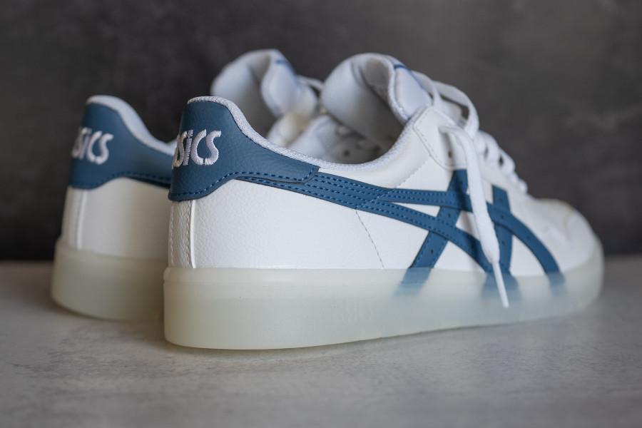 Asics Japan S blanche et bleue (semelle transparente) (3)