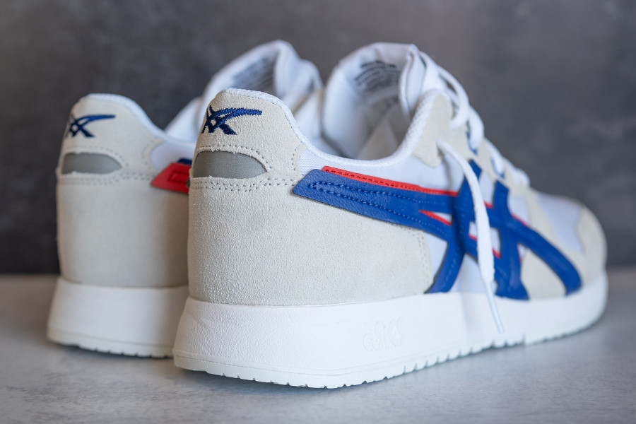Asics Lyte Classic blanche bleue rouge (1)