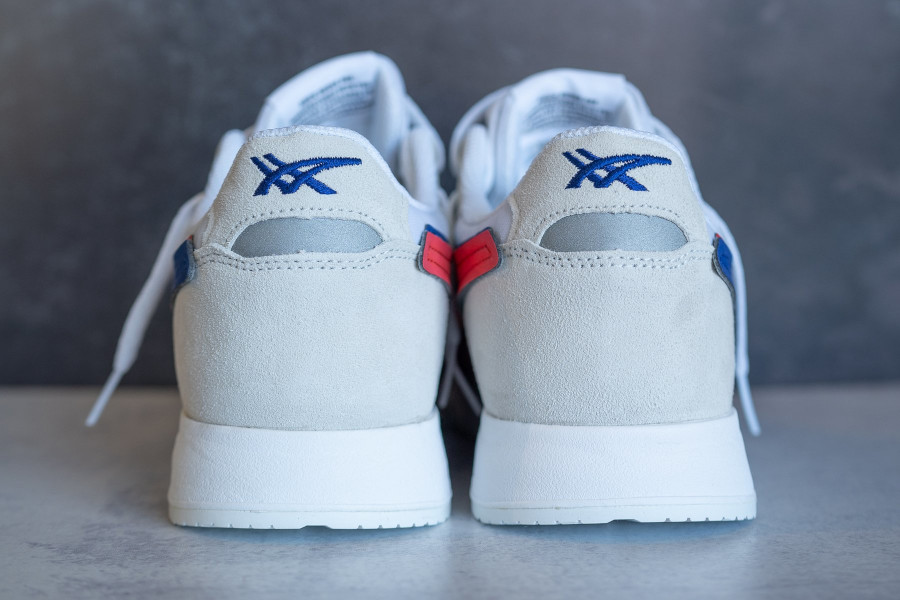 Asics Lyte Classic blanche bleue rouge (2)