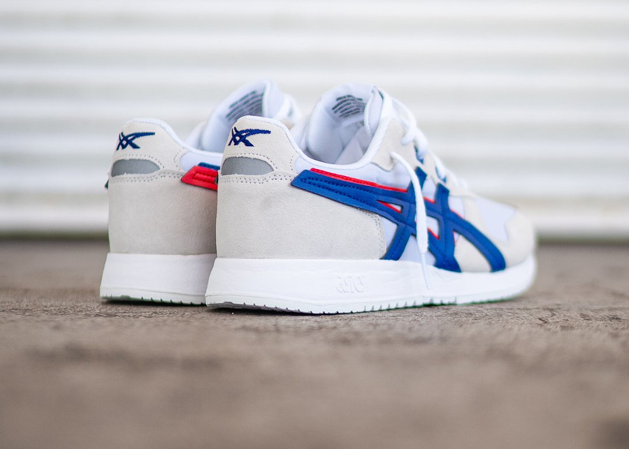 Asics Lyte Classic blanche bleue rouge (3)
