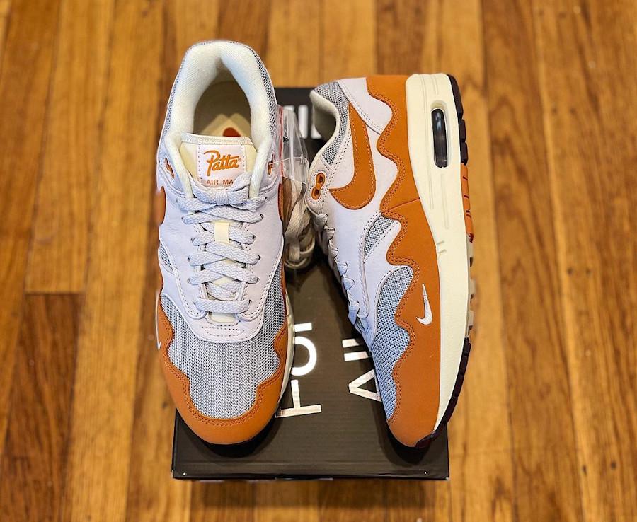 Chaussure Nike Air Max 87 vagues orange (2)