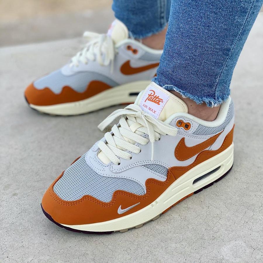 Chaussure Nike Air Max 87 vagues orange (4)