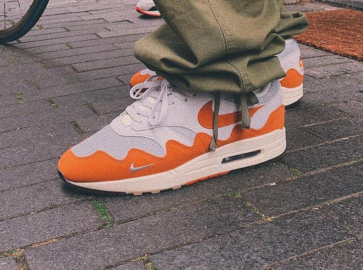 Chaussure Nike Air Max 87 vagues orange (5)