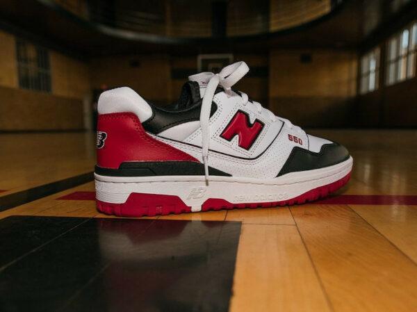 NB BB550HR1 White Red Black Chicago Bulls Shifted Sport Pack