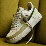 Nike Air Force 1 Low Scrap Light Bone Rough Green