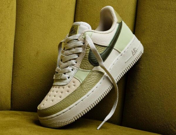 Nike AF1 Low Scrap Rough Green Light Bone Olive DO6717-001