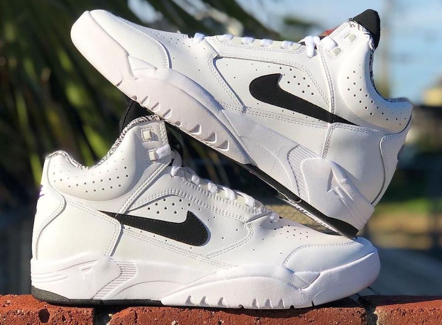 Nike Air Flight Lite Mid OG White Black Retro 2021 30th