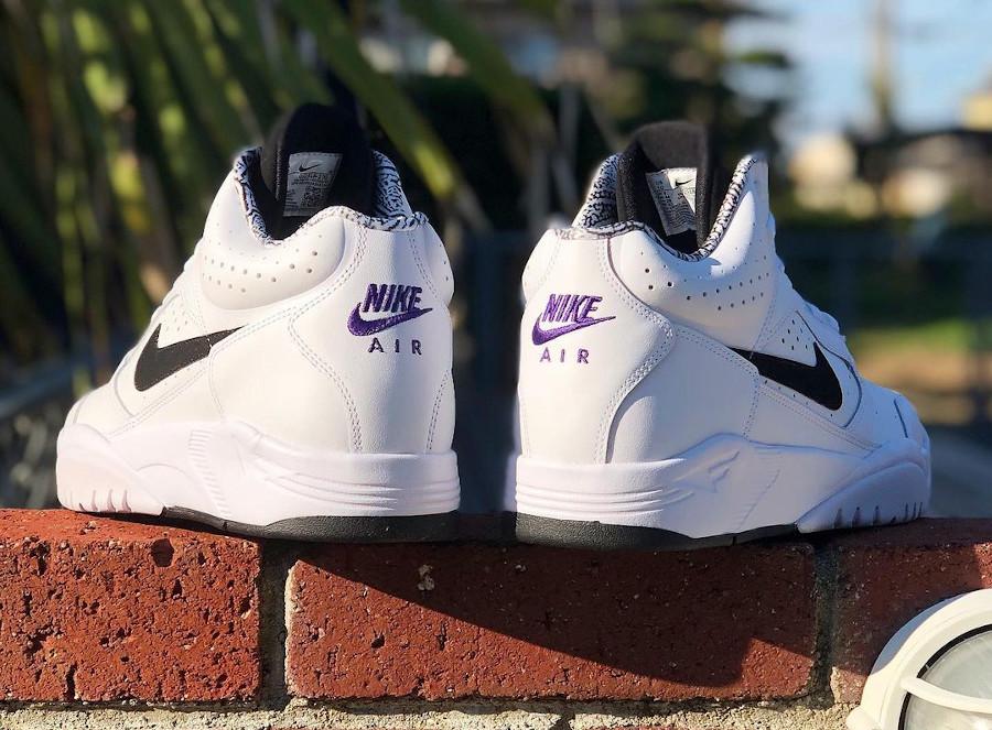 Nike Air Flight Lite Mid blanche et noire (2)