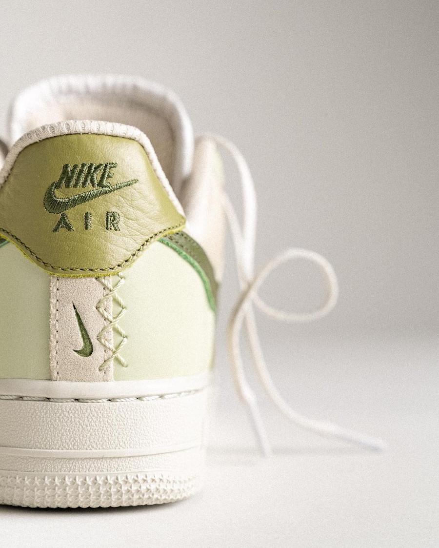 Nike Air Force 1 Low Scrap verte et beige (1)