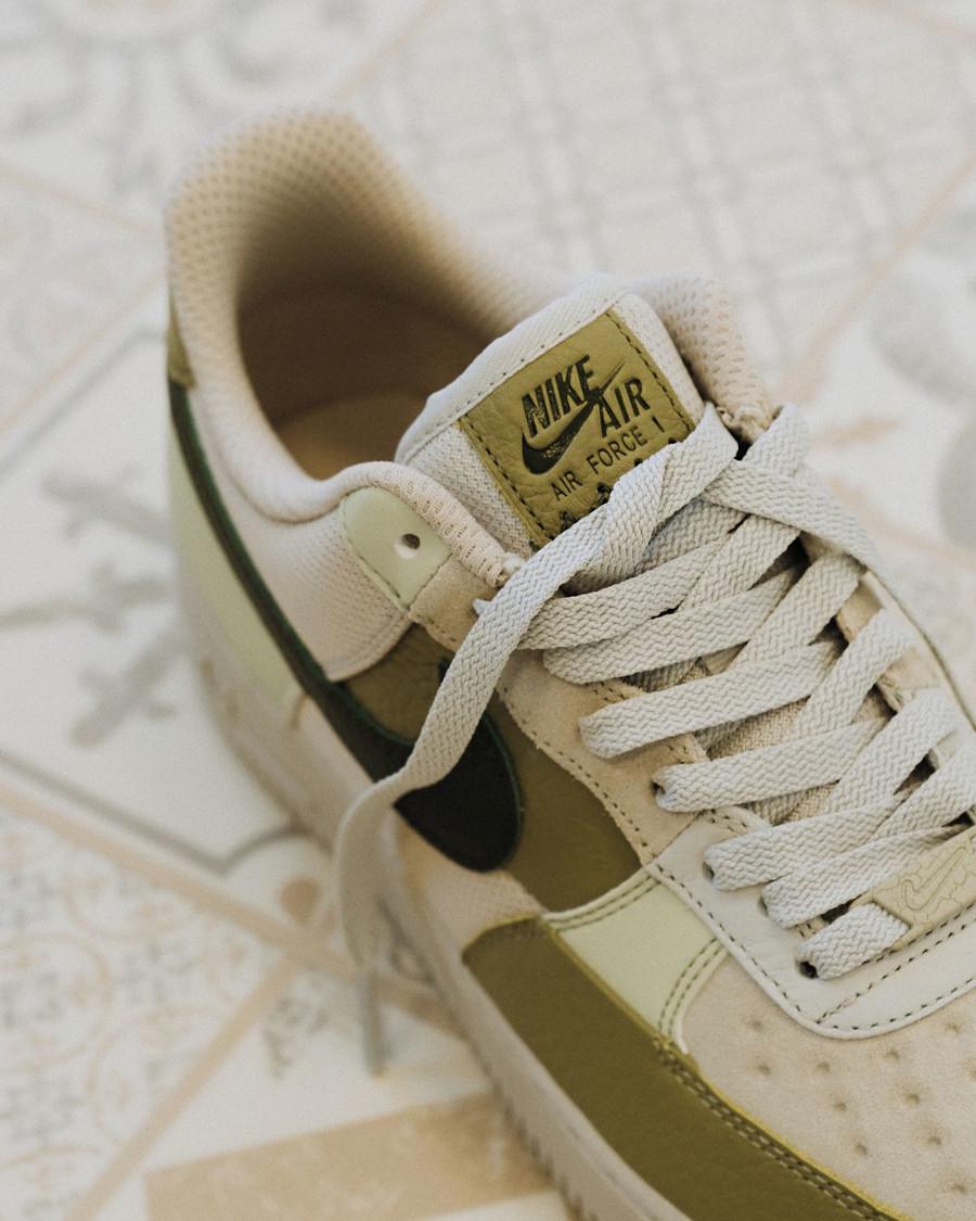 Nike Air Force 1 Low Scrap verte et beige (2)