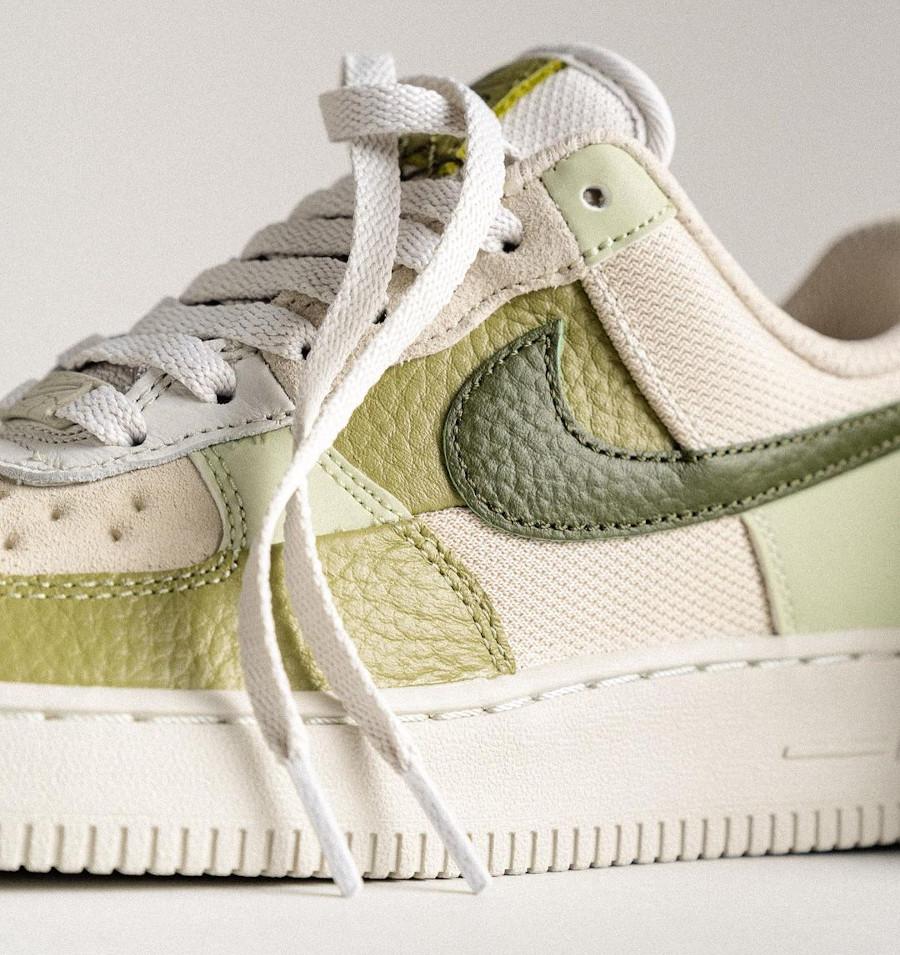Nike Air Force 1 Low Scrap verte et beige (3)
