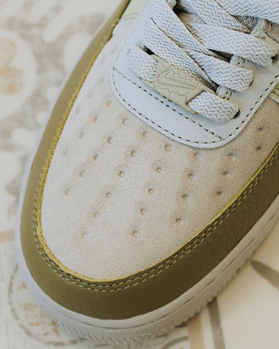 Nike Air Force 1 Low Scrap verte et beige (5)