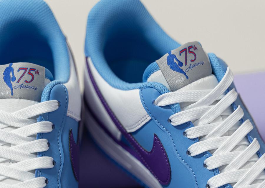 Nike Air Force One L.A blanche bleu et violette (2)