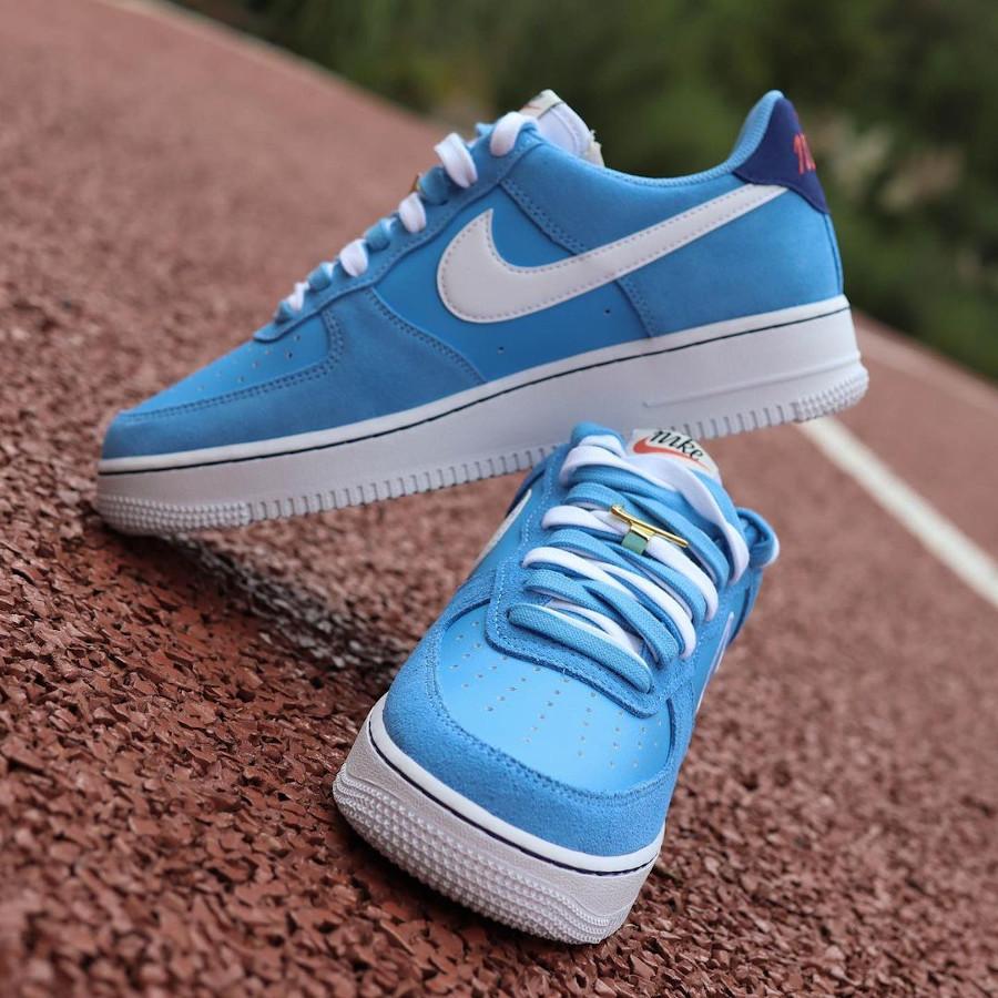 Nike Air Force One Swoosh 50th Anniversary bleu ciel (2)